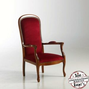 Fauteuil voltaire location mobilier mariage SEAD Events