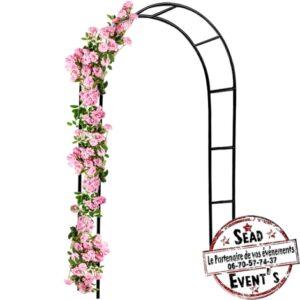 Arche cérémonie en fer à fleurir