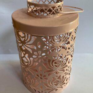 photophore rose metal bougeoir lanterne chic doux location landes mariages décoration table mont de marsan aquitaine bougies magiques chaleureux