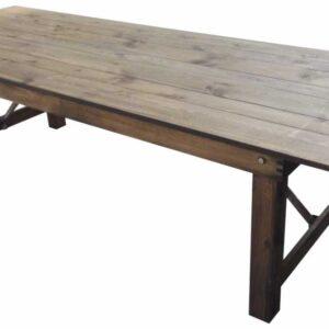table pliante en bois rustique héritage landes événements location mont de marsan réception anniversaires mobiliers mariages professionnels champêtre campagne