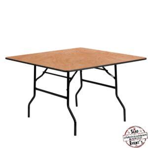 table carrée bois location landes mont de marsan mariages anniversaires reception castandet assis