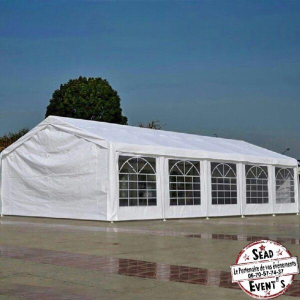 chapiteau blanc toile vitré location logistique landes réceptions anniversaires mariages extérieur events événements mont de Marsan fêtes