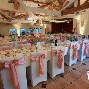 noeud satin location mise en place décoration chaise landes mariage anniversaire landes aquitaine réception cocktails