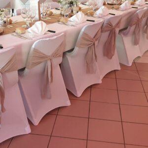 noeud en lin location décoration embellir les chaises landes aquitaine réceptions événements