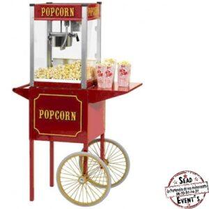 machine à pop corn 2 roues rouge facile location gourmandise landes événements enfants adultes aquitaine mariages anniversaires