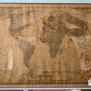 tableau mappemonde décoration voyage world location landes aquitaine couleur ancienne voyager
