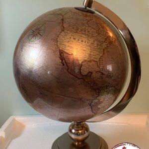 globe en bronze décoration voyage world rêve location landes aquitaine mariages events événements