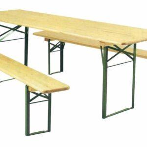 banc bois pied pliant mobilier location landes événement event aquitaine mont de marsan finition peinture couleur verte
