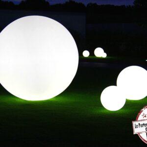lampe de sol boule lumineuse slide design location landes event soirée mont de marsan sud ouest extérieur
