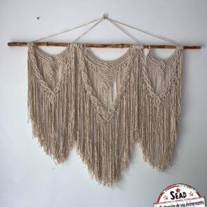 macramé bois fait main tissu original bohème chic mariage élégant events landes location réception