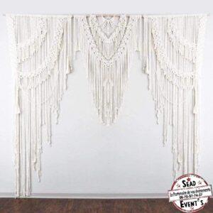 arche macramé fabrication fait main artisanale location décoration mariage cérémonie event landes aquitaine sud fil suspendu bois